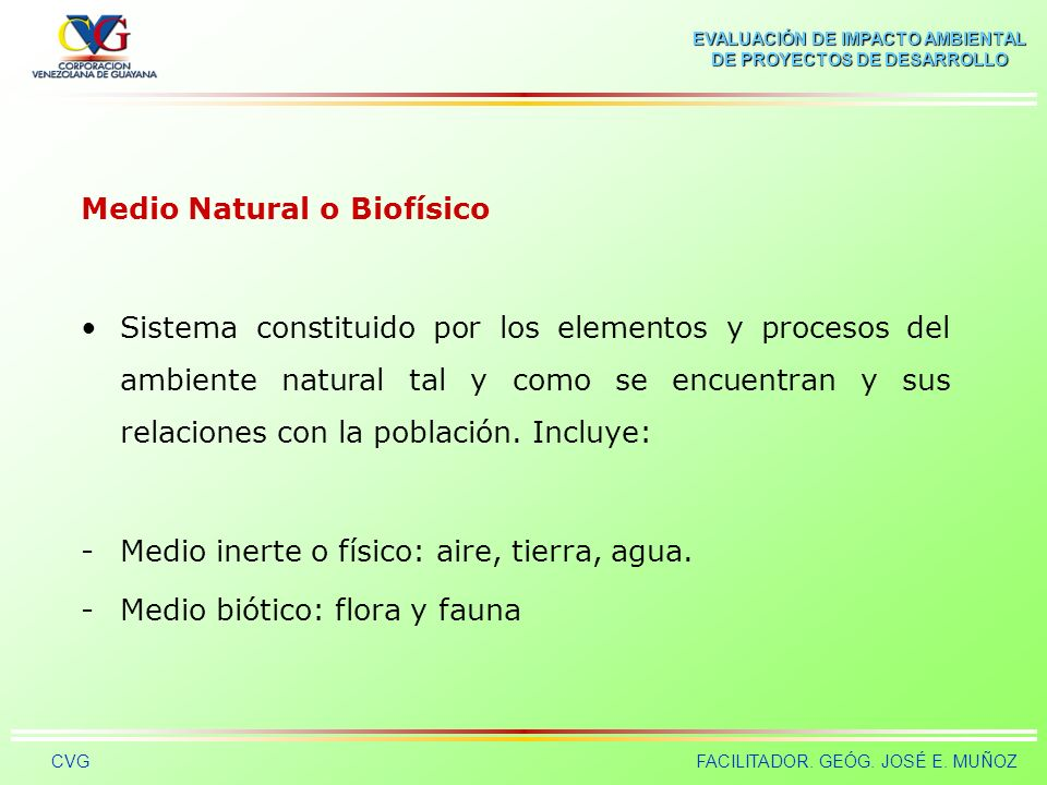 Medio Natural o Biofísico