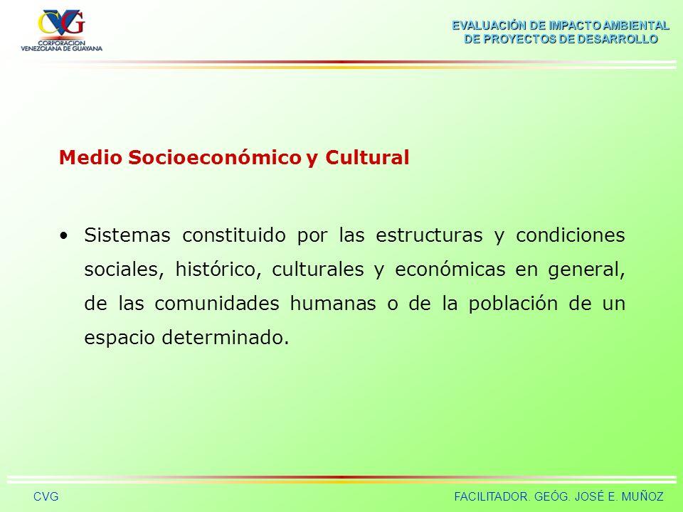 Medio Socioeconómico y Cultural