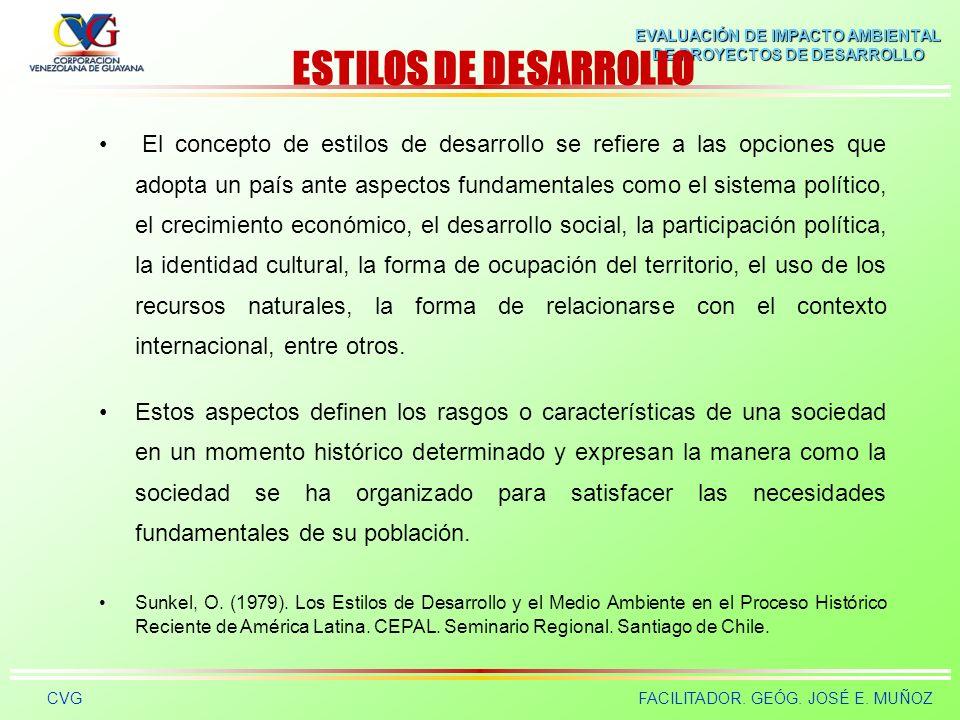 ESTILOS DE DESARROLLO