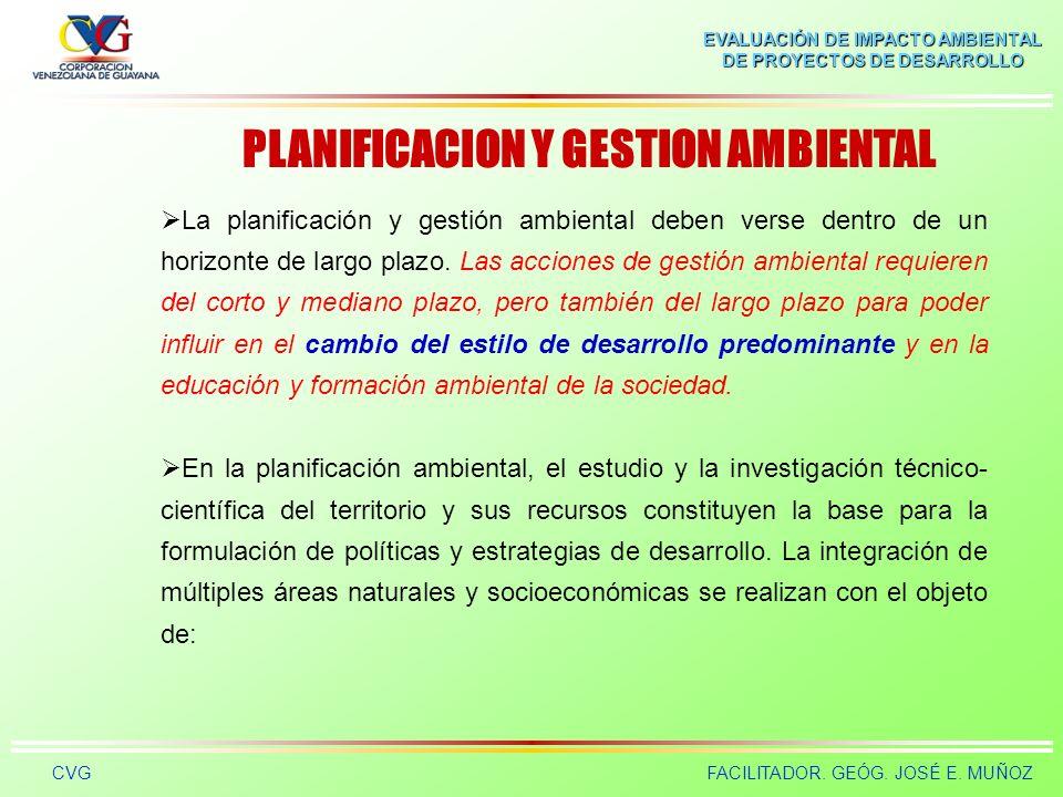 PLANIFICACION Y GESTION AMBIENTAL
