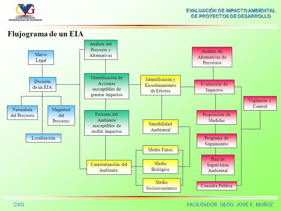 Flujograma de un EIA Análisis del Proyecto y Alternativas