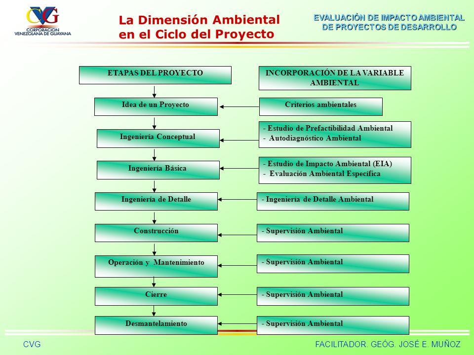 La Dimensión Ambiental en el Ciclo del Proyecto