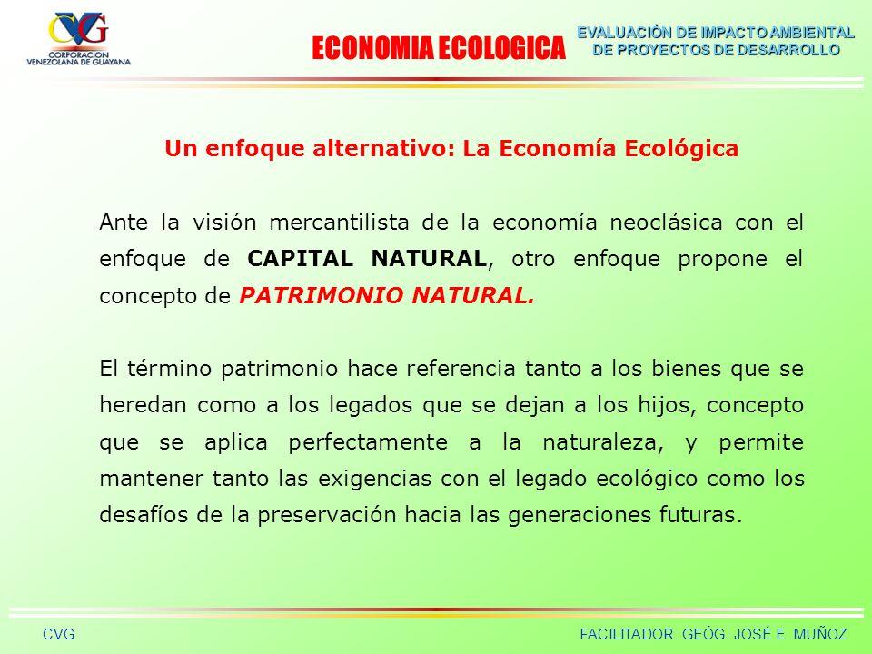 Un enfoque alternativo: La Economía Ecológica
