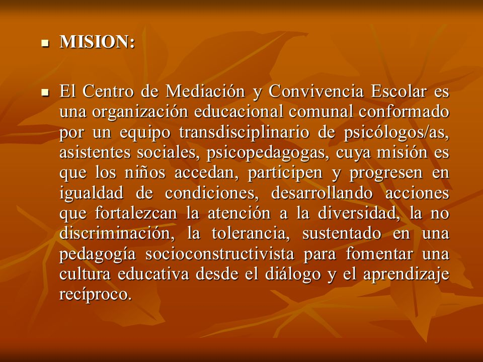 MISION: