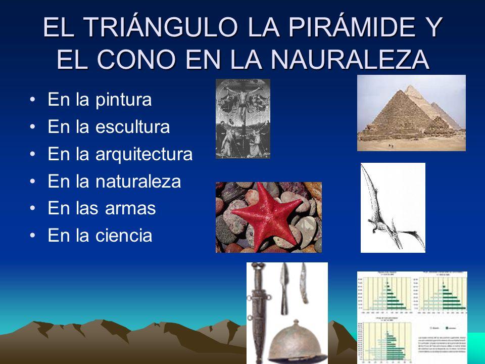 EL TRIÁNGULO LA PIRÁMIDE Y EL CONO EN LA NAURALEZA