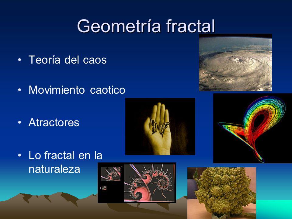 Geometría fractal Teoría del caos Movimiento caotico Atractores