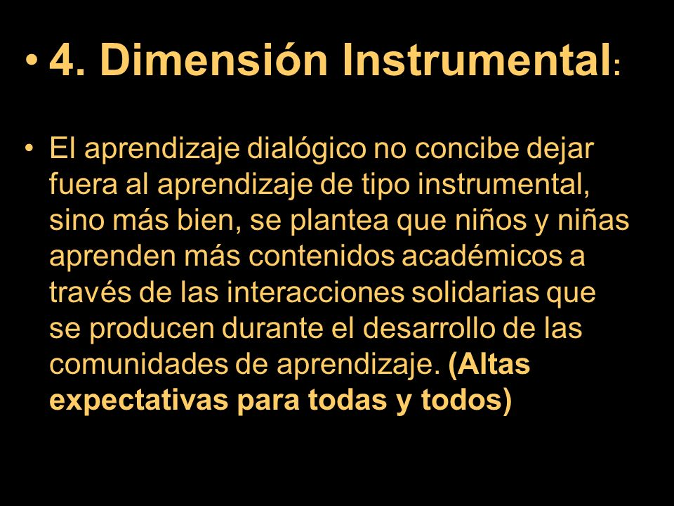 4. Dimensión Instrumental: