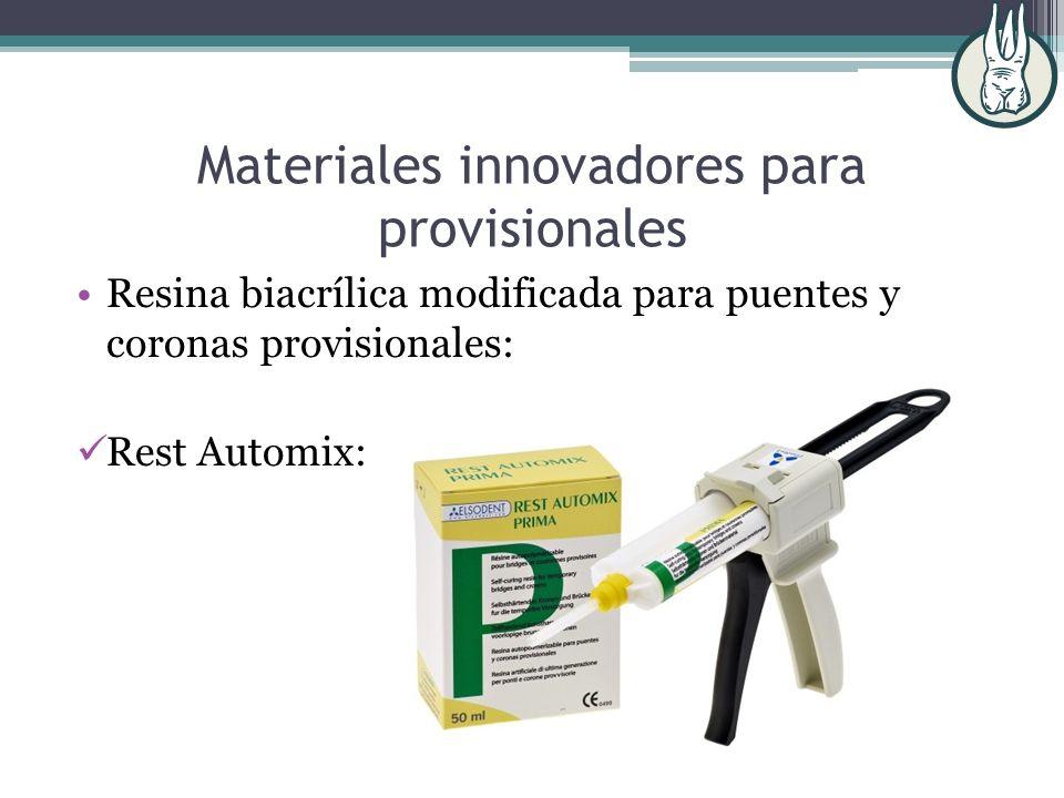 Materiales innovadores para provisionales