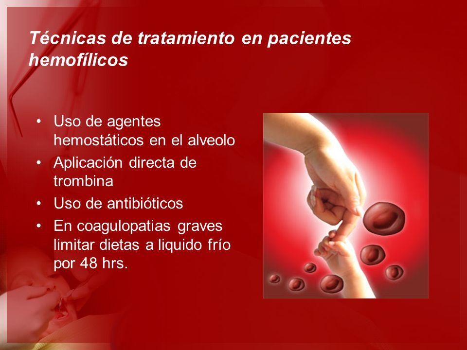 Técnicas de tratamiento en pacientes hemofílicos