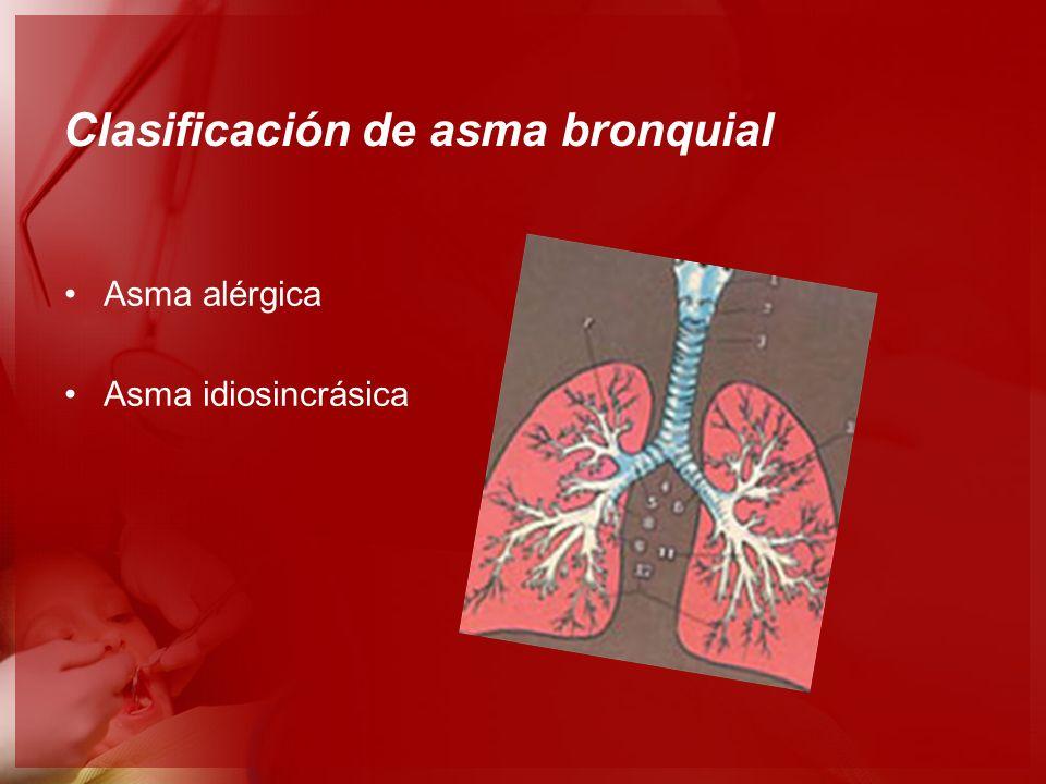 Clasificación de asma bronquial