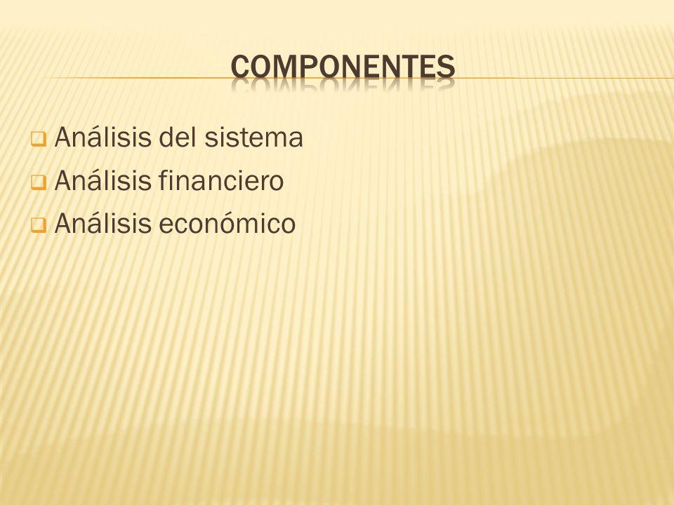 componentes Análisis del sistema Análisis financiero