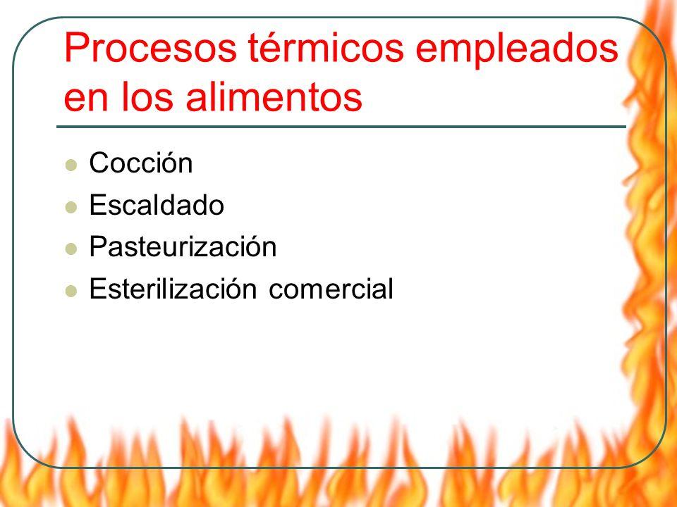 Procesos térmicos empleados en los alimentos