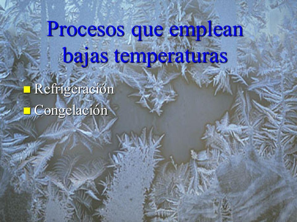 Procesos que emplean bajas temperaturas