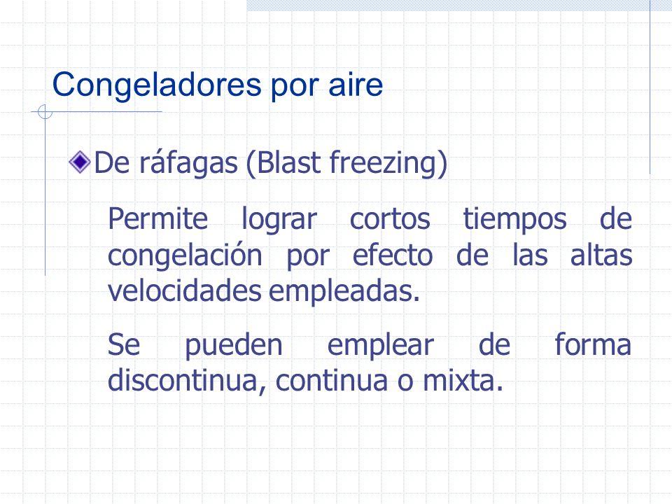 Congeladores por aire De ráfagas (Blast freezing)