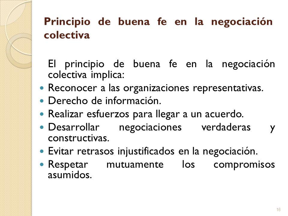 Principio de buena fe en la negociación colectiva