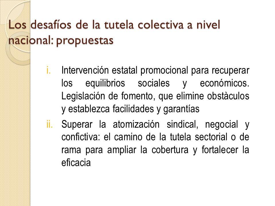 Los desafíos de la tutela colectiva a nivel nacional: propuestas