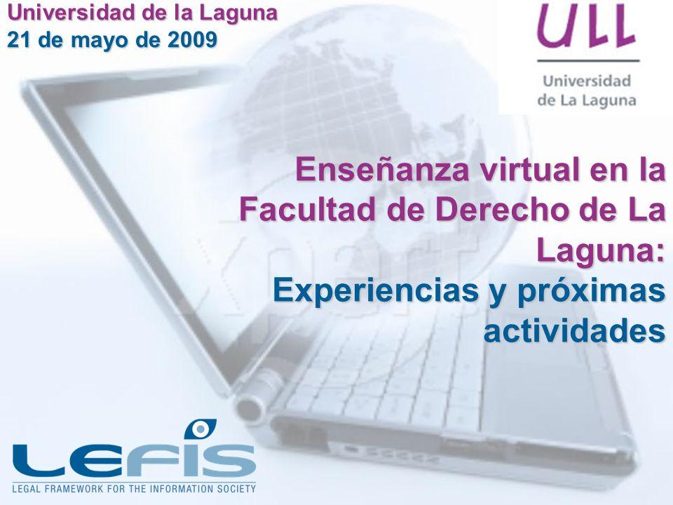 Enseñanza virtual en la Facultad de Derecho de La Laguna: