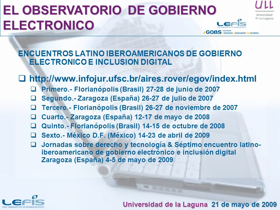 EL OBSERVATORIO DE GOBIERNO ELECTRONICO