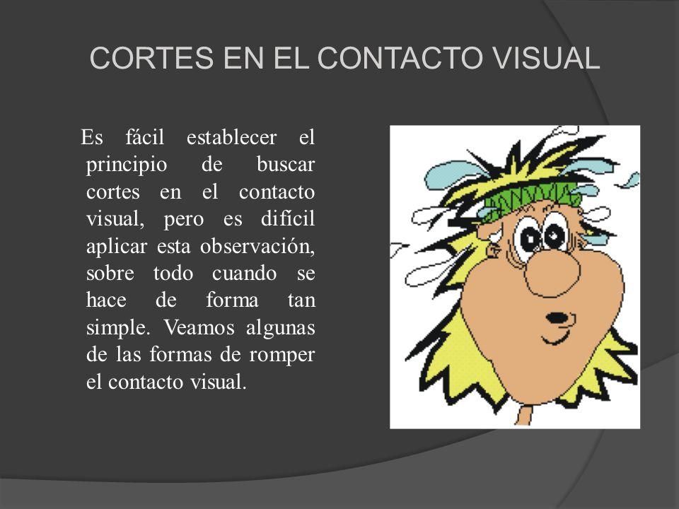 CORTES EN EL CONTACTO VISUAL