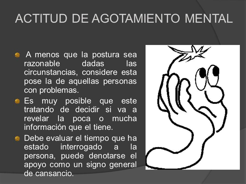 ACTITUD DE AGOTAMIENTO MENTAL