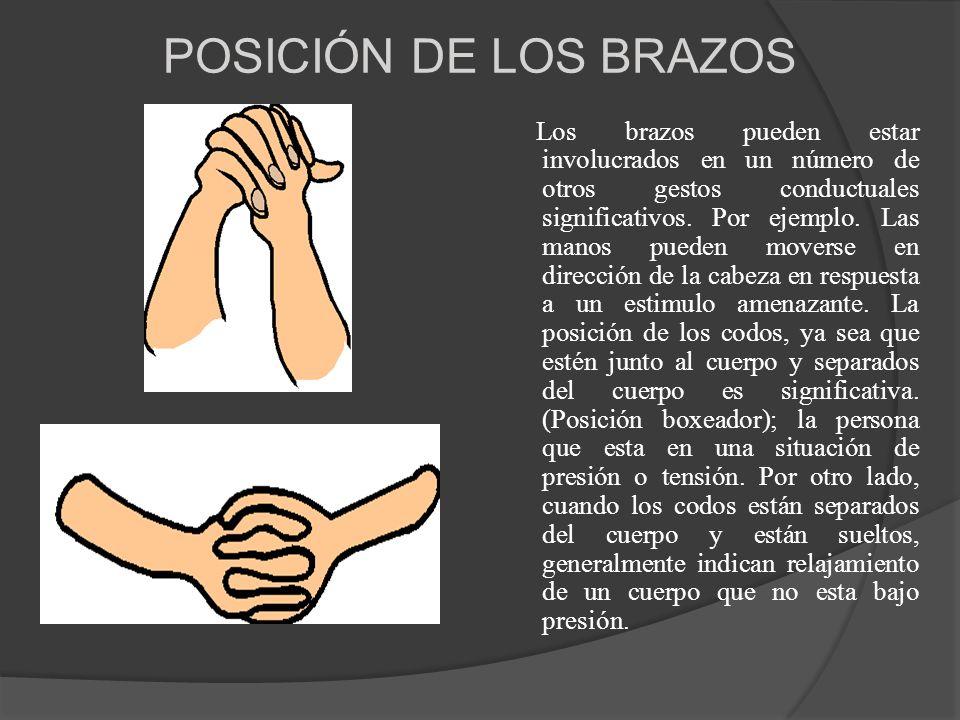 POSICIÓN DE LOS BRAZOS