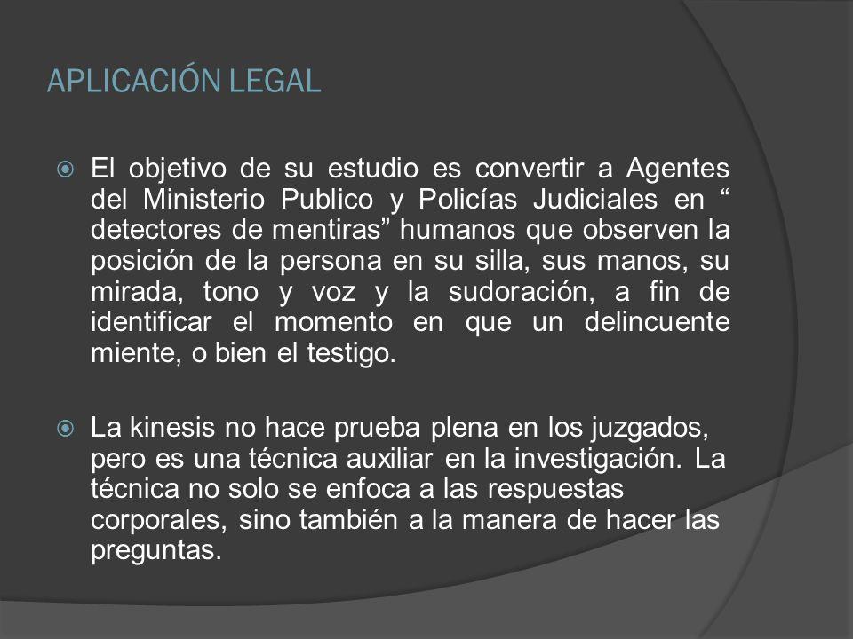 APLICACIÓN LEGAL