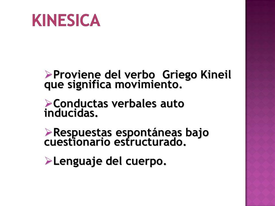 Proviene del verbo Griego Kineil que significa movimiento.