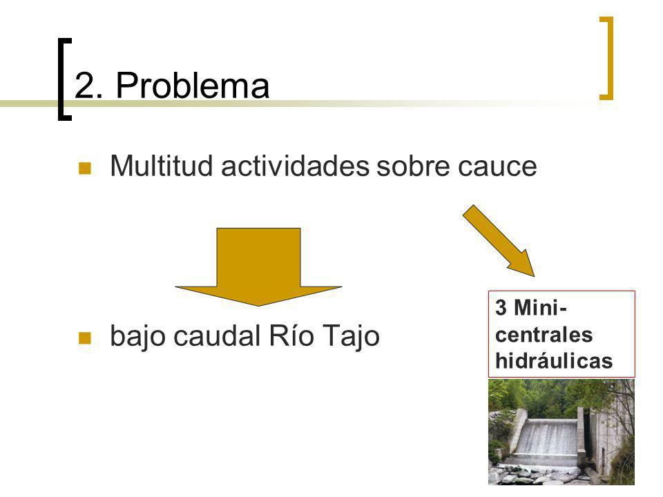 2. Problema Multitud actividades sobre cauce bajo caudal Río Tajo