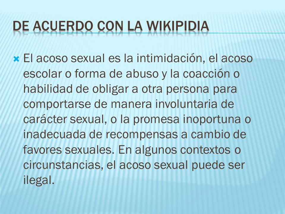 DE ACUERDO CON LA Wikipidia