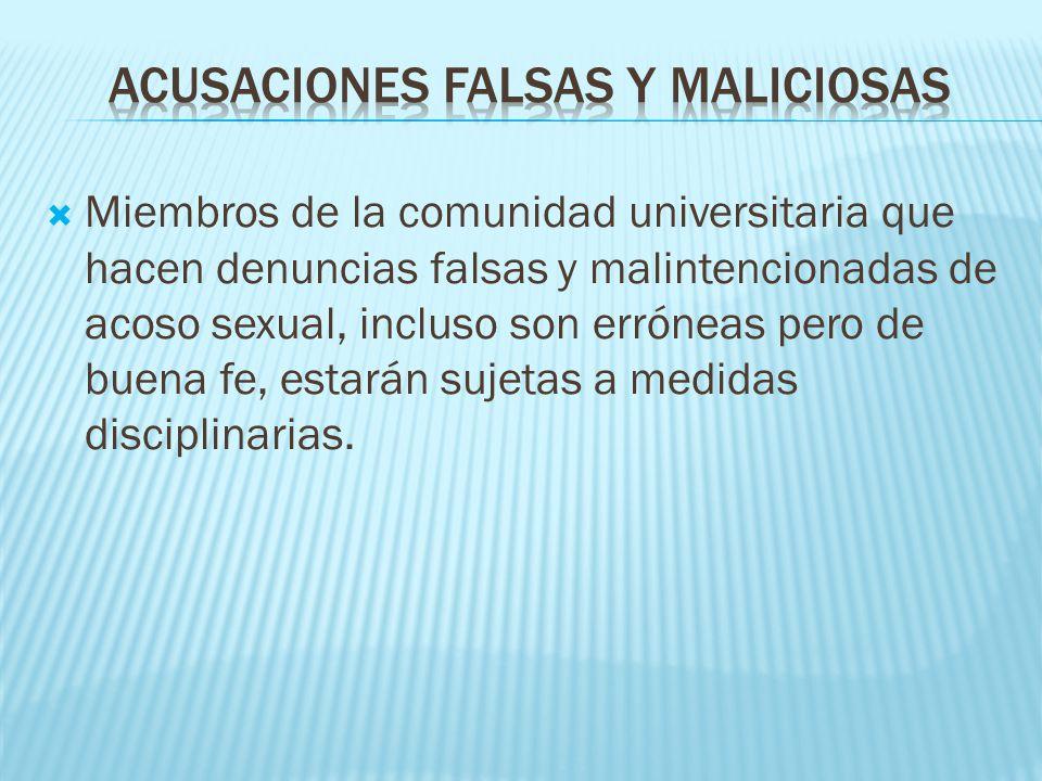 acusaciones falsas y maliciosas
