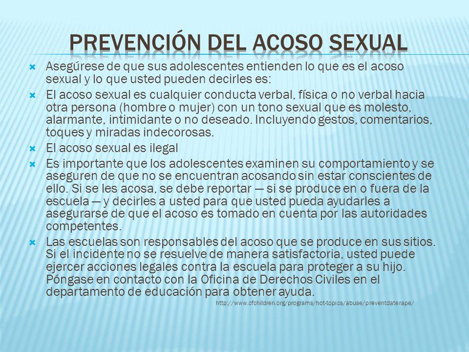Prevención del acoso sexual