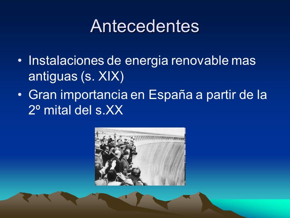 Antecedentes Instalaciones de energia renovable mas antiguas (s. XIX)