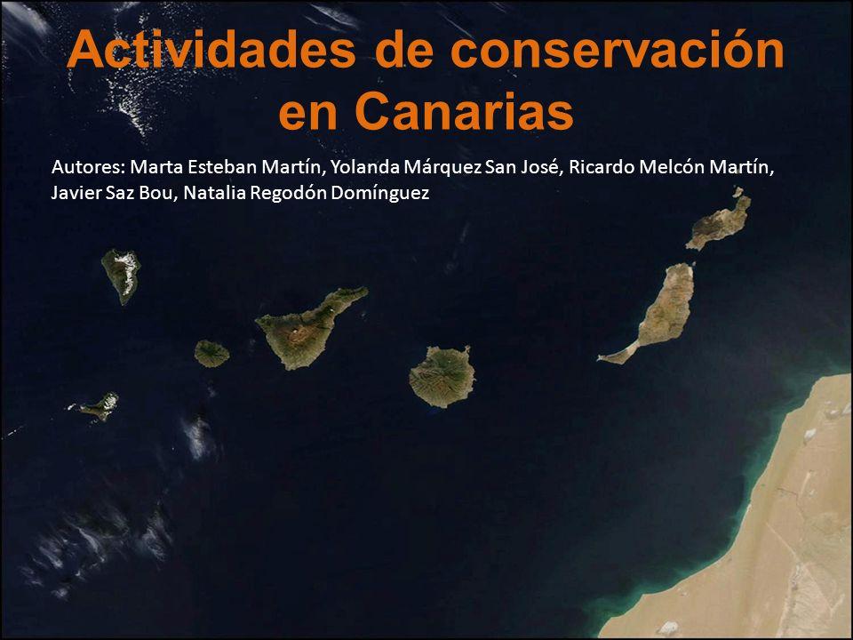Actividades de conservación en Canarias