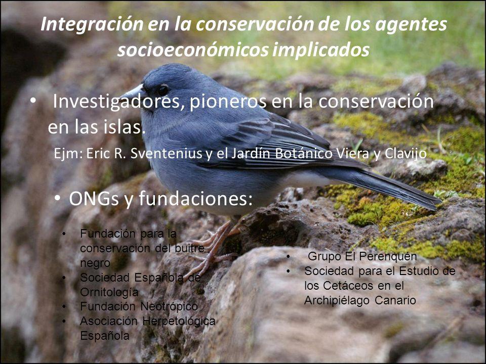 Investigadores, pioneros en la conservación en las islas.