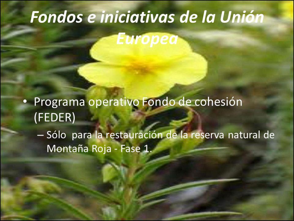 Fondos e iniciativas de la Unión Europea