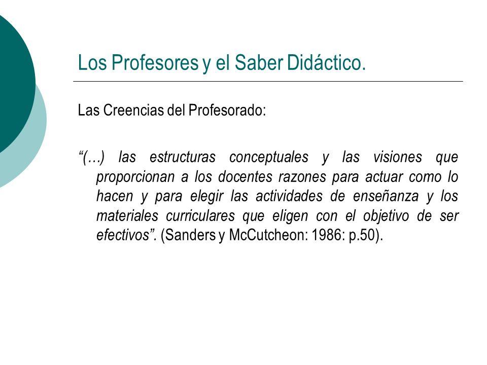 Los Profesores y el Saber Didáctico.