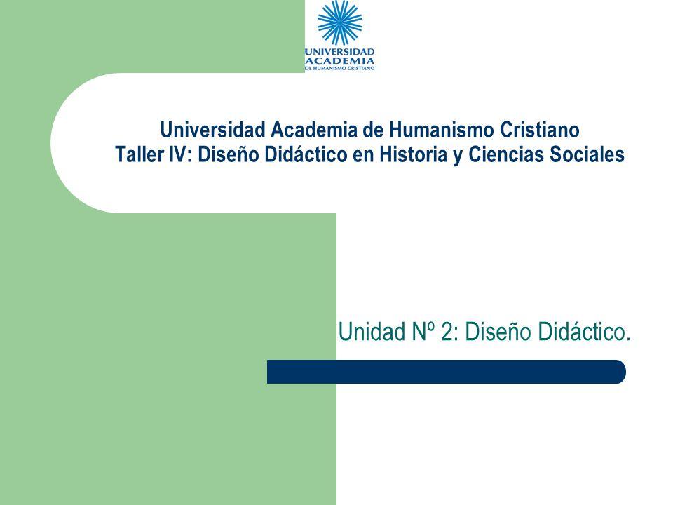Unidad Nº 2: Diseño Didáctico.