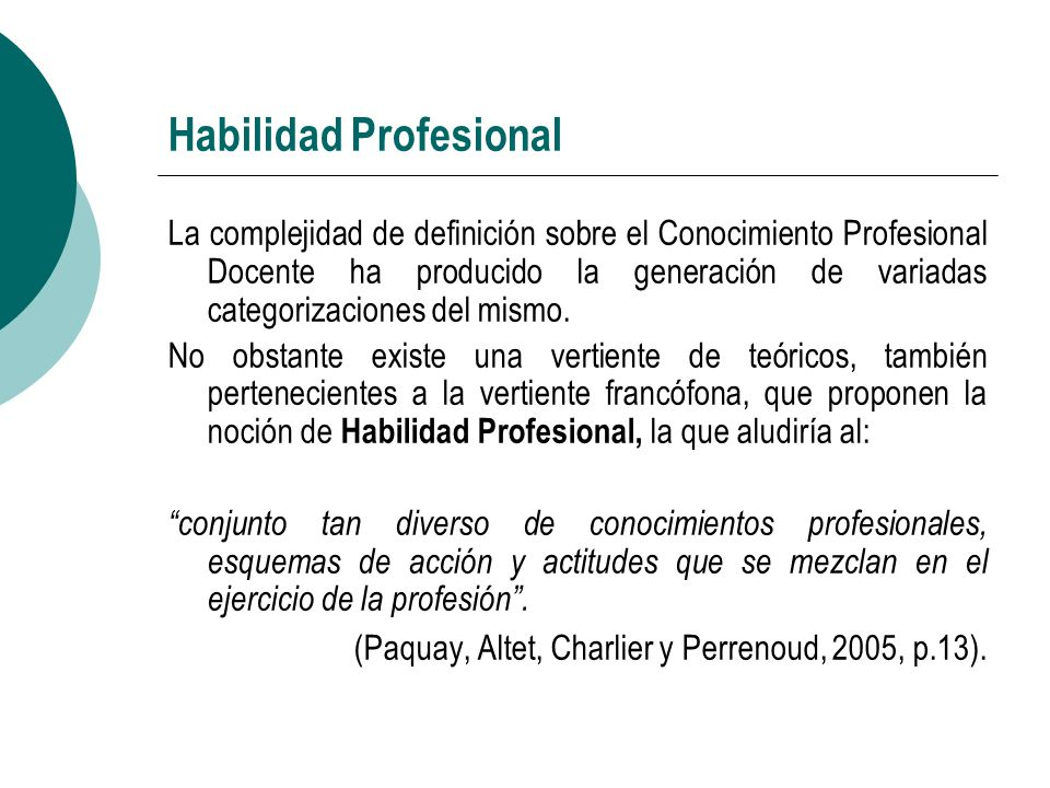 Habilidad Profesional