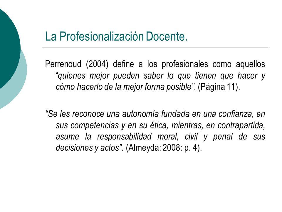 La Profesionalización Docente.