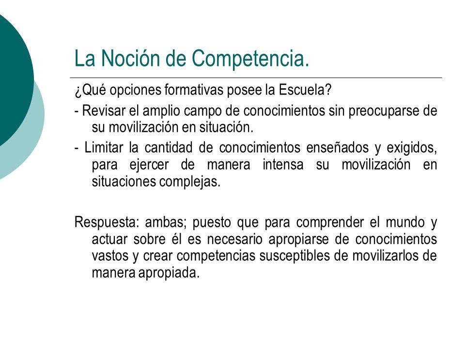 La Noción de Competencia.