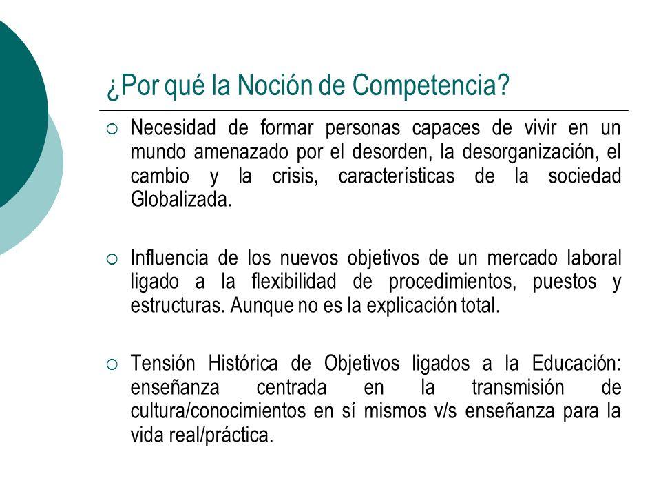 ¿Por qué la Noción de Competencia