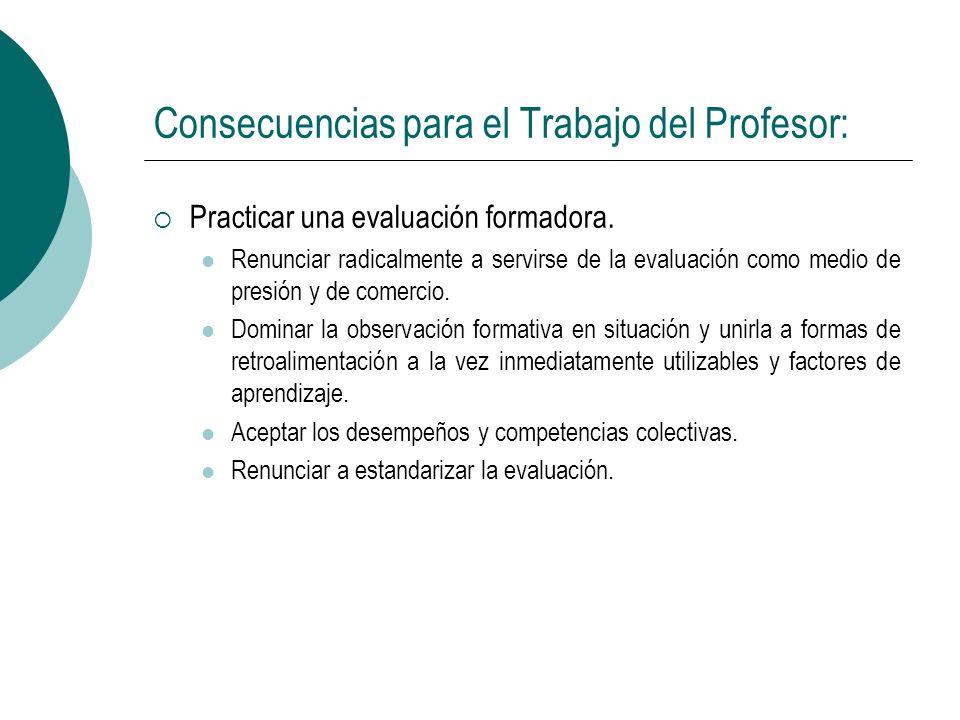Consecuencias para el Trabajo del Profesor:
