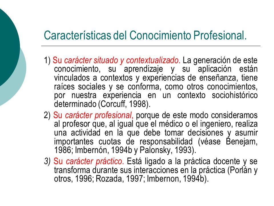 Características del Conocimiento Profesional.