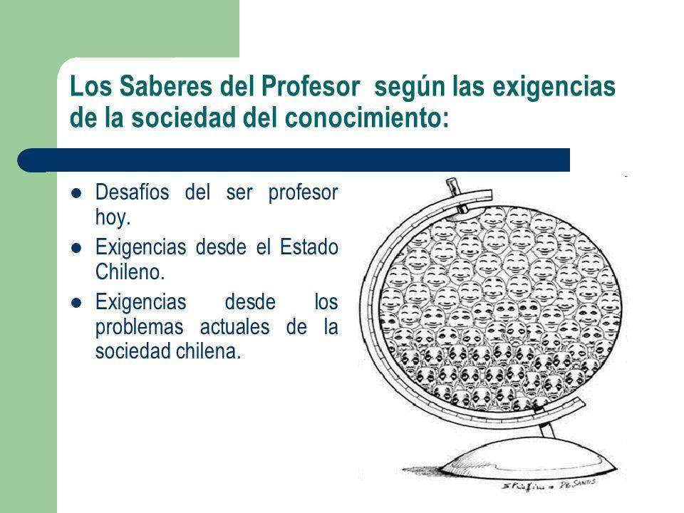 Los Saberes del Profesor según las exigencias de la sociedad del conocimiento: