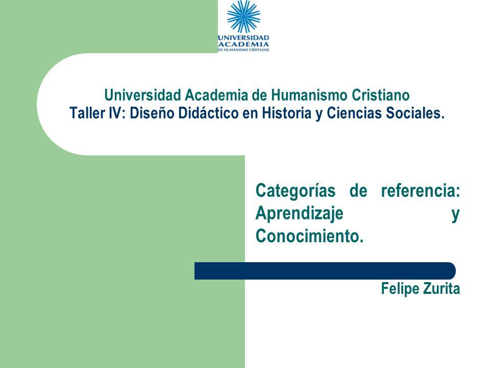 Categorías de referencia: Aprendizaje y Conocimiento. Felipe Zurita