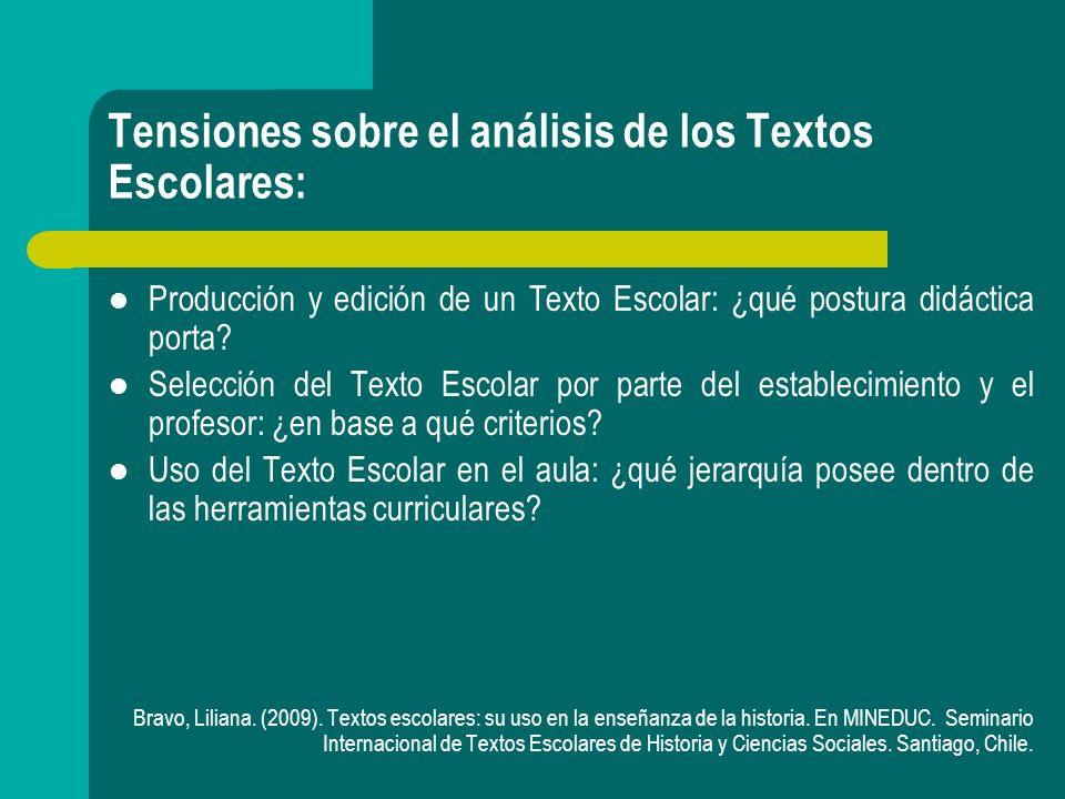 Tensiones sobre el análisis de los Textos Escolares: