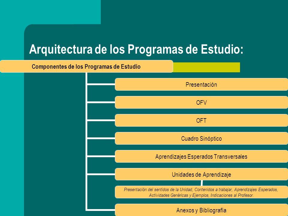 Arquitectura de los Programas de Estudio: