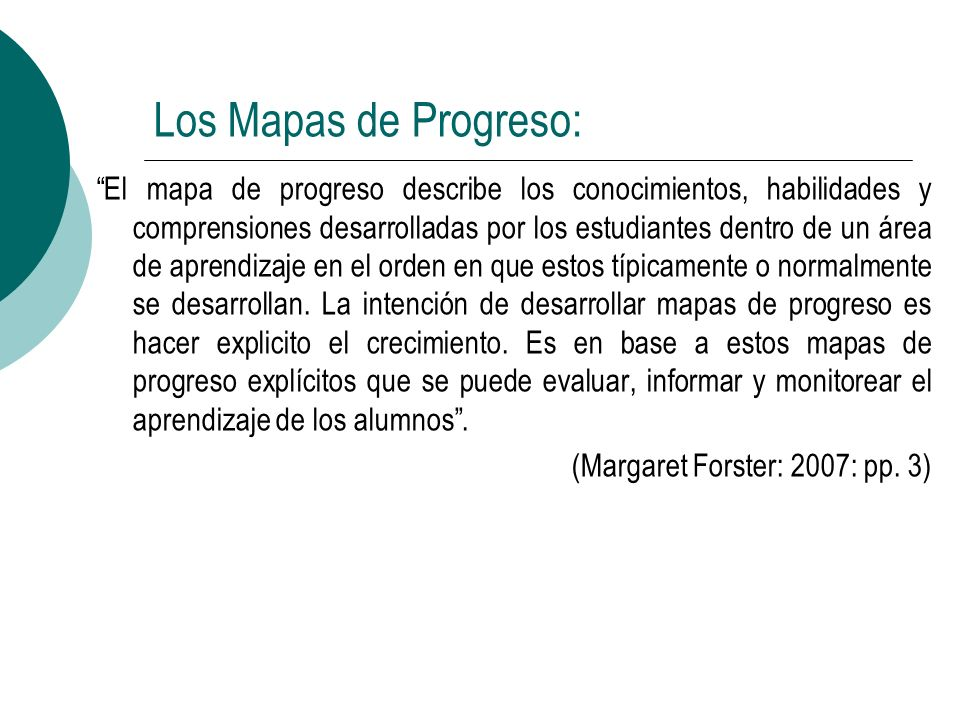 Los Mapas de Progreso: