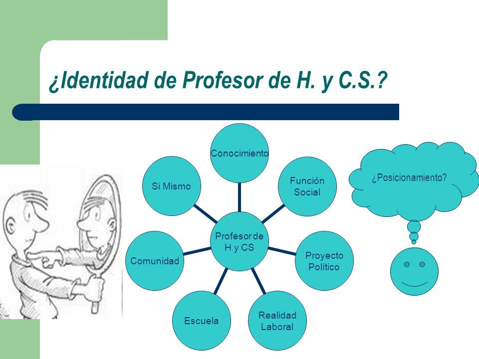 ¿Identidad de Profesor de H. y C.S.
