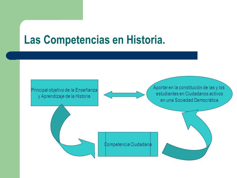 Las Competencias en Historia.